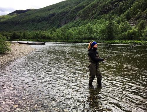 Fishing in Reisa river
